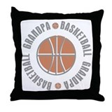 Basketball Grandpa Throw Pillow