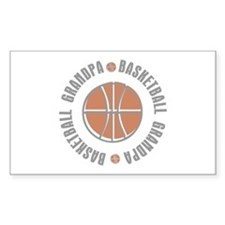 Basketball Grandpa Rectangle Sticker 10 pk)