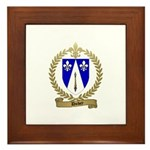 DUBEY Family Crest Framed Tile