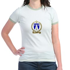 DUBEY Family Crest Jr. Ringer T-Shirt
