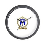 DUBEY Family Crest Wall Clock