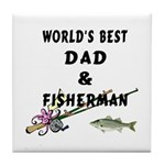World's Best Dad Tile Coaster