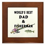World's Best Dad Framed Tile
