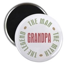 Grandpa Man Myth Legend Magnet
