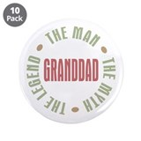 "GrandDad Man Myth Legend 3.5"" Button (10 pack)"