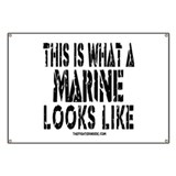 This is What a MARINE Looks L Banner