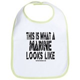 This is What a MARINE Looks L Bib