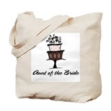Aunt of the Bride Pink Cake Tote Bag
