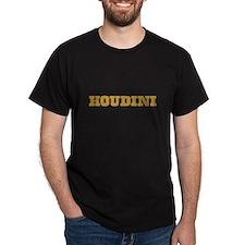 Houdini T-Shirt, Dark Colors, Gold Letters