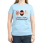 Peace Love Ophthalmology Women's Light T-Shirt