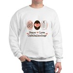 Peace Love Ophthalmology Sweatshirt