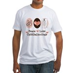 Peace Love Ophthalmology Fitted T-Shirt