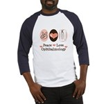 Peace Love Ophthalmology Baseball Jersey