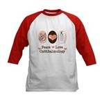 Peace Love Ophthalmology Kids Baseball Jersey