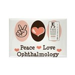 Peace Love Ophthalmology Rectangle Magnet (10 pack