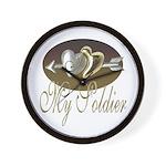 I Love My Sodier Wall Clock