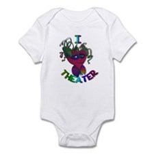 Cute I Love Theater Infant Bodysuit