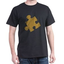 Houdini Puzzle T-Shirt, Dark Colors, Gold Design