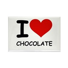 I LOVE CHOCOLATE Rectangle Magnet