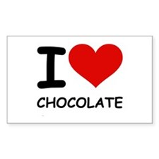 I LOVE CHOCOLATE Rectangle Sticker 50 pk)