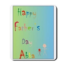Children's father's day Abba Mousepad