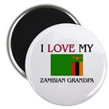 "I Love My Zambian Grandpa 2.25"" Magnet (10 pack)"