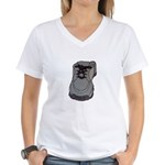 tennis shoe Women's V-Neck T-Shirt
