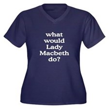 Lady Macbeth Women's Plus Size V-Neck Dark T-Shirt