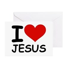 I LOVE JESUS Greeting Cards (Pk of 20)