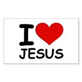I LOVE JESUS Rectangle Decal