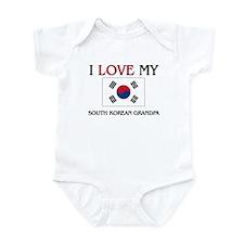 I Love My South Korean Grandpa Infant Bodysuit