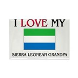 I Love My Sierra Leonean Grandpa Rectangle Magnet