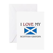 I Love My Scottish Grandpa Greeting Card