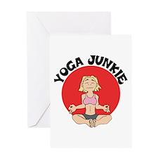 Yoga Junkie Greeting Card