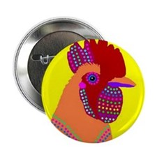 """Rooster 2.25"""" Button (100 pack)"""