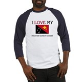 I Love My Papua New Guinean Grandpa Baseball Jerse