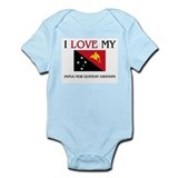 I Love My Papua New Guinean Grandpa Infant Bodysui