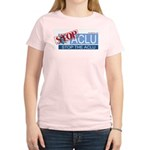Stop Sign Women's Pink T-Shirt