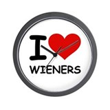 I LOVE WIENERS Wall Clock