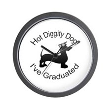 Hot Diggity! Dog I've Graduates Wall Clock