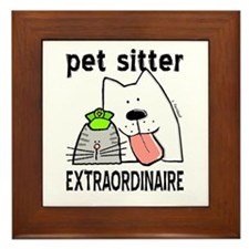 Pet Sitter Extraordinaire Framed Tile