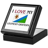 I Love My Leonean Grandpa Keepsake Box