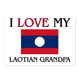 I Love My Laotian Grandpa Postcards (Package of 8)