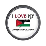 I Love My Jordanian Grandpa Wall Clock