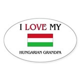 I Love My Hungarian Grandpa Oval Decal