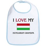 I Love My Hungarian Grandpa Bib