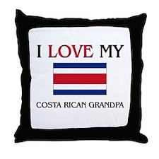 I Love My Costa Rican Grandpa Throw Pillow