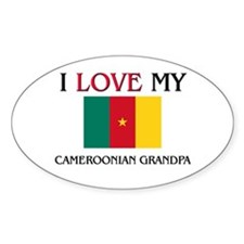 I Love My Cameroonian Grandpa Oval Decal
