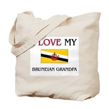 I Love My Bruneian Grandpa Tote Bag