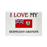 I Love My Bermudan Grandpa Rectangle Magnet